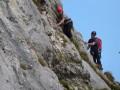 Kletterausbildung im Gebirge