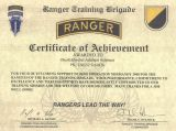 Dankurkunde US Ranger Trainings Brigade 2000