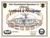 Dankurkunde 301st POC Airborne + QM  1999