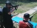 Andreas beim Schießen