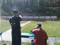 Stefan beim Pistolenwettbewerb