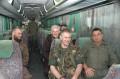 Abfahrt im Militaerbus