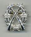 Swedish Army Rifle Badge SILVER