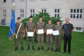 Gruppenfoto mit der EMFV-Fahne