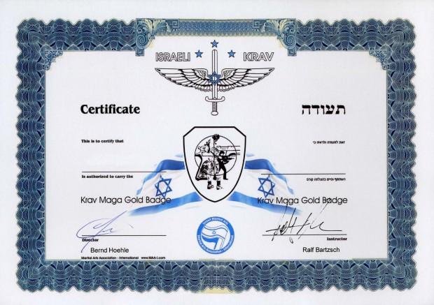krav-maga-medal-in-gold-document