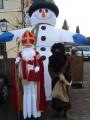 Foto mit einem Schneemann