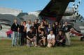 Gruppenbild vor der Skyvan SC 7