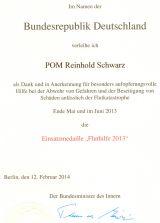 Einsatzmedaille Fluthelfer 2013