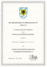 Bw Reservistenverdienstabzeichen WBK VI