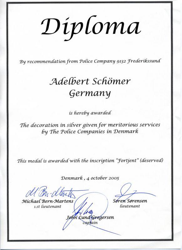 danish-police-meritorious-service-medal-document