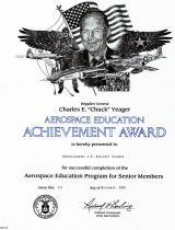 Chuck Yeager Aerospace Education Medal