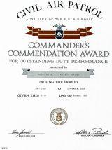 Civil Air Patrol Medal Document