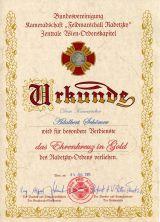 GFM Radetzky Ehrenkreuz in GOLD