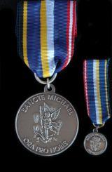 St.Michaelsmedaille in Silber mit Miniatur