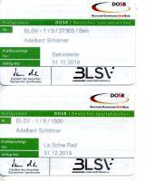Sportabzeichenausweise / Sport instructor Document