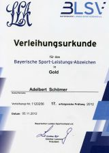Bayerisches Sport-Leistungsabzeichen in Gold