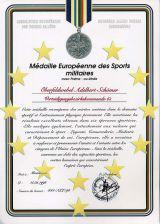 Médaille Européenne des Sports militaires