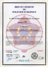 Brevet Sportif du Policier Europeen