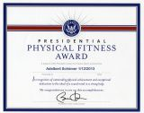 Presidential Physical Fitness Award Document