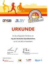 Sportabzeichentag 24.07.2015 Rosenheim