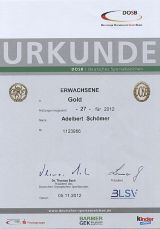 Das Deutsche Sportabzeichen 2012