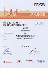 Das Deutsche Sportabzeichen in GOLD 2019