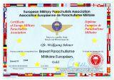 Urkunde Fallschirmsprungabzeichen des EMFV