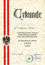 Ehrenzeichen der ABNÖ in GOLD