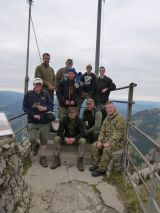 Gruppenbild auf der Aussichtplattform