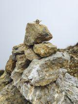 Unser EMFV Abzeichen auf dem Gipfelkreuz