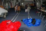 Ablegen der Fallschirme im ATTC