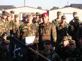 Verleihungszeremonie bei den US Rangers