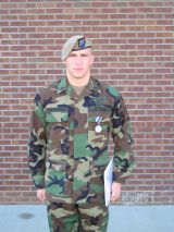US Airborne Ranger Patterson with St.Michael`s med