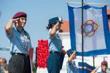 Militärischer Gruß bei den Nationalhymnen