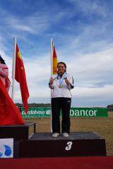 Tatjana mit der Bronzemedaille